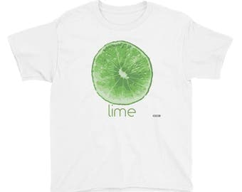 Lime T-Shirt - Kids - Foodie - Chef - Organic