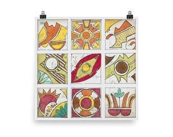 Cochiti Pattern - Beautiful Archival Cotton Rag Fine Art Giclée Print Supporting the Nonprofit Fresh Artists