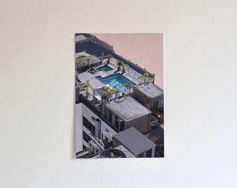 LA Rooftop A3 Photographic Print