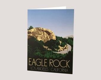 Eagle Rock Greeting Card (Blank inside)
