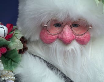 """26""""santa claus doll,large father christmas, completely handmade, home decor, unique,"""
