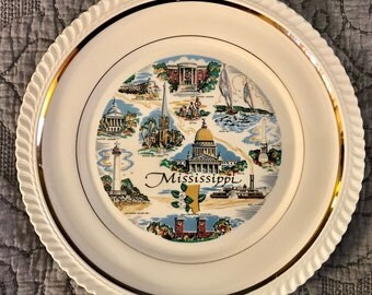 Mississippi State Collector's Souvenir Plate