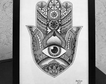 Hamsa Hand artwork