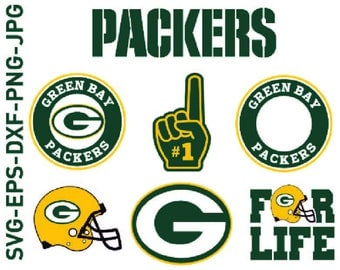 Green Bay Packers Svg, Cuttable Design Files(Svg, Eps,Dxf,), For Silhouette Studio,Cricut Design Space,Clip Art,Football,Svg Cameo,Cut file