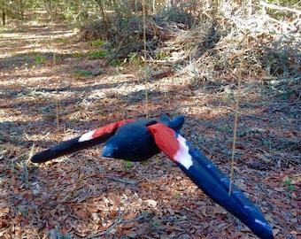 Bird Marionette Puppet - Redwinged Blackbird