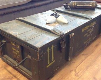 Military Ammunition Box Coffee Table 1970s