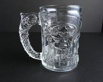 1995 McDonald's Batman Forever Batman Glass Mug made in the USA DC Comics