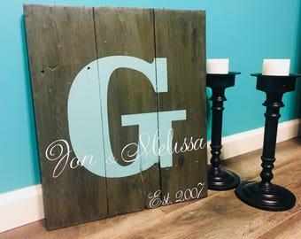 Custom name wood sign