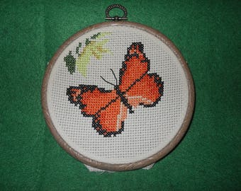 Butterfly framed cross stitch