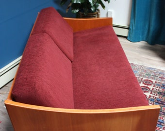 Teak Mid century modern davenport sofa
