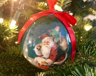 Santa Christmas Ball Ornament