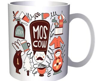 Welcome To Moscow Russia Russian 11oz Mug g932