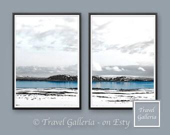 Blue Arctic Printable Wall Art Decor - Winter / Modern / Landscape / Inspiring / Prints / Print