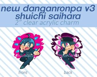 "PRE-ORDER New Danganronpa V3: Shuichi Saihara 2"" Double-sided Acrylic Keychain Charm"