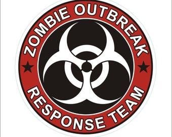 Zombie Outbreak Response Team Vinyl Decal Bumper Sticker