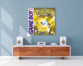 Pokemon Yellow Gameboy Cover Canvas Print