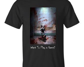 NEW Jigsaw Movie 2017 Shirt BLACK Saw Jigsaw Billy puppet T Shirt