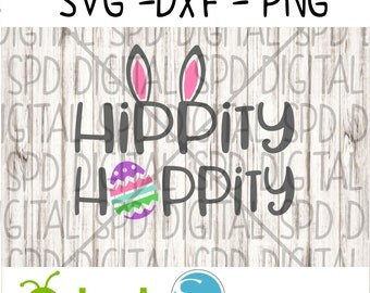 Hippity, hoppity, easter, egg, DXF, PNG, SVG files for Silhouette and Cricut