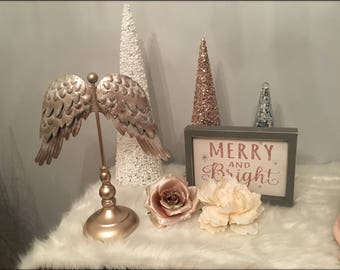 Gorgeous Angel Wing Table Top Decor