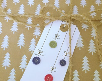 Baubles Christmas Tag