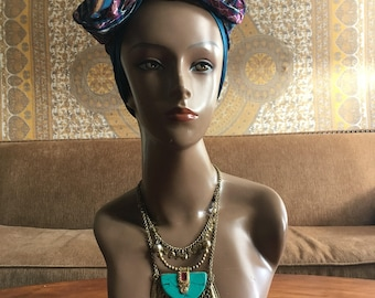 Turquoise Tiered Gold Necklace