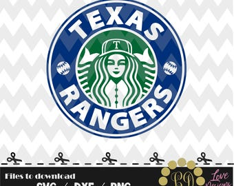 Texas Rangers coffee svg,png,dxf,shirt,jersey,baseball,college,university,decal,proud mom,disney,softball,dallas,houston,starbucks,ballpak