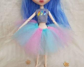 Cotton candy tutu for pullip sized dolls