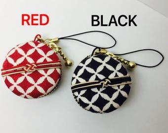 3.8 cm Macaron Case Japanese Kimono style saving case/jewelry case Japanese pattern Macalon Case