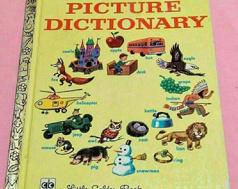 The Little Golden Book Picture Dictionary Copyright 1971