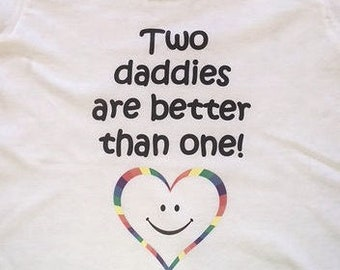 Children's Two Daddies Are Better Than One LGBTQ Amitee Shirt