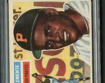 1956 Topps #33 Roberto Clemente PSA 6 -2nd Year!