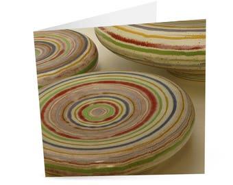 Greetings Card - Banded Cushion Bowls
