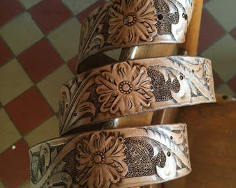 Handmade/Hand-tooled Leather Belt