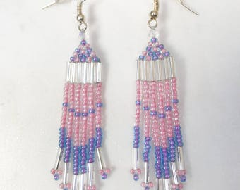 Handmade dangling earrings, Beaded Earrings, Dangle and drop earrings, Handmade earrings, Shoulder dusters, Bohemian, gypsy, Native American