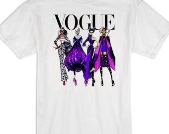 Disney Shirts, Disney Villian Shirt, Disney Vogue Shirt, Disney Vogue Tank, Vogue Shirt, Maleficent Shirt, Cruella Shirt, Disney T Shirt