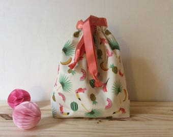 Fabric pouch, DrawString gift bag to tote all