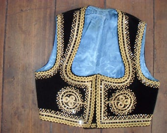 Vintage folk ethnic Serbian jacket