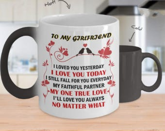 TO MY GIRLFRIEND Amazing Color Changing Mug!