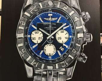 Breitling Watch, Blue Face