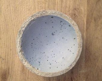 Blue handmade concrete Bowl