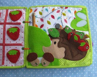 Quiet game, magnetic Game, Felt Forest Animals Learning Toy,  Gift for Kid, game for ages 1-5