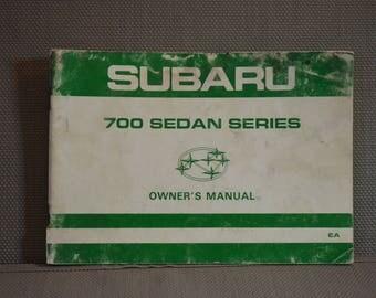 Subaru 700 Sedan Series Owner's manual