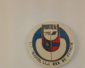Vintage Montreal Georgian pinback button