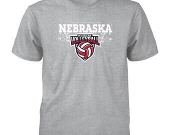 University Nebraska Husker Volleyball - Gildan Youth T-shirt - Nebraska Cornhuskers T-shirt - Nebraska - Free Shipping - Officially Licensed