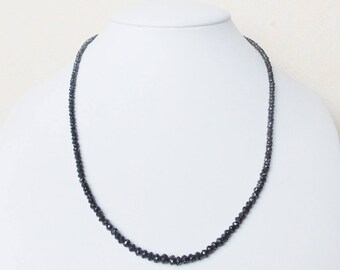 Diamond Necklace Black 42 cm diamond necklace 2-4 mm FAC. Beads