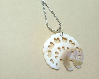 Seashell pendant Lotus leaf pendant Necklace Shell pendant Seashell necklace necklace
