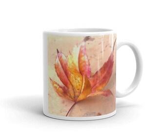 Pastel Autumn Leaf- Made in America Mug