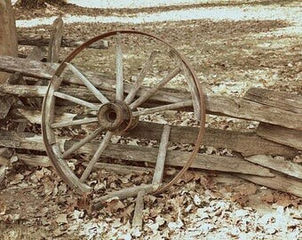 Fine Art Photography , Sepia Photography , Wheel Photography , Antique Wall Art,