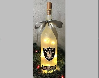 Lighted NFL and College Team Wine Bottles