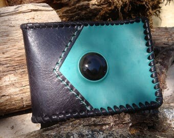Wallet leather with Obsidian